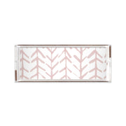 Lucite Trays Coral / 11X4 Arrows Lucite Tray