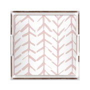Lucite Trays Coral / 12X12 Arrows Lucite Tray