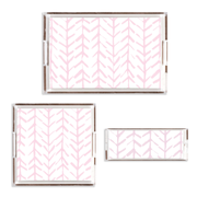 Lucite Trays Pink / 11x4 Arrows Lucite Tray