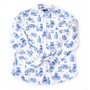 Top Austin Toile Printed Button Down