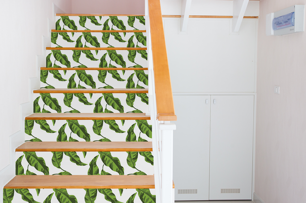 Stair Riser 5.5 Banana Leaves Stair Riser Decal