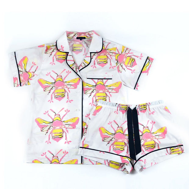 Leisure Bees Knees Short Sleeve Pajama Set