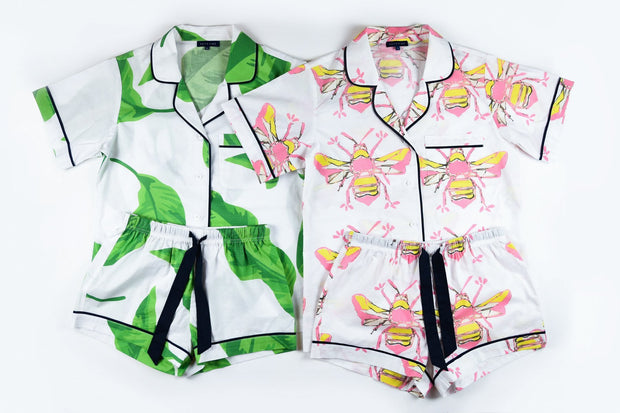 Leisure XS / Banana Leaves Bees Knees Short Sleeve Pajama Set