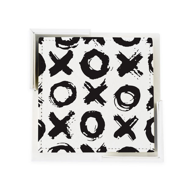 Coaster Set Black Big Love Coaster Set