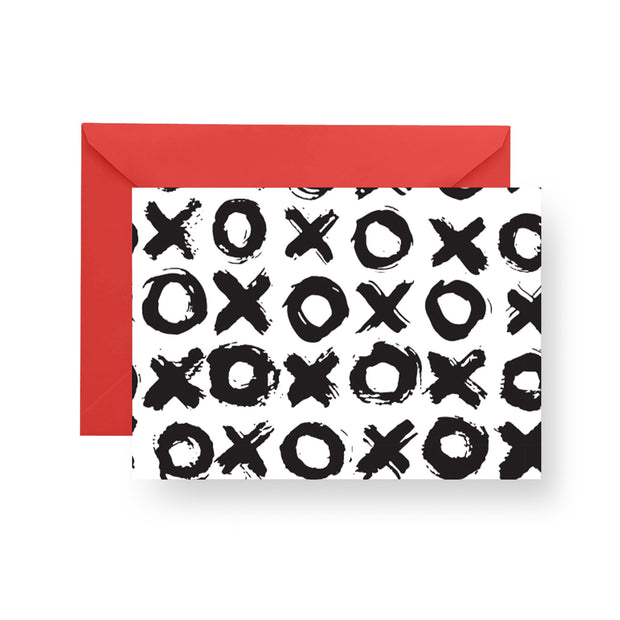 Folded Notecard Black Big Love Folded Notecard Set