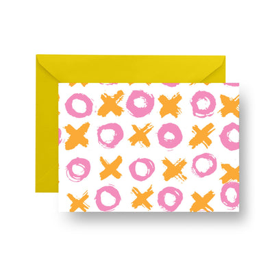 Folded Notecard Pink Big Love Folded Notecard Set