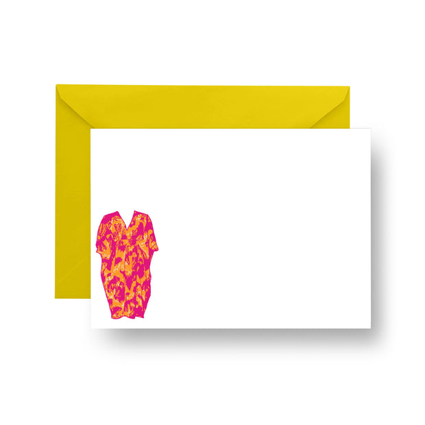 Flat Notecard Pink Caftan Notecard Set