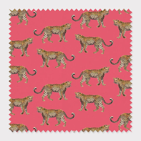 Fabric Cotton / Pink Cheetahs Fabric