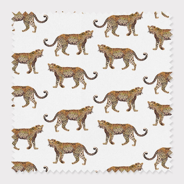 Fabric Cotton / White Cheetahs Fabric