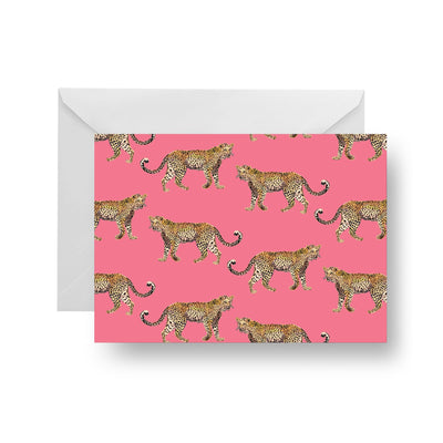 Folded Notecard Pink Cheetahs Folded Notecard