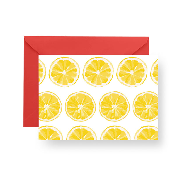 Folded Notecard Yellow Citrus Sunrise Folded Notecard Set