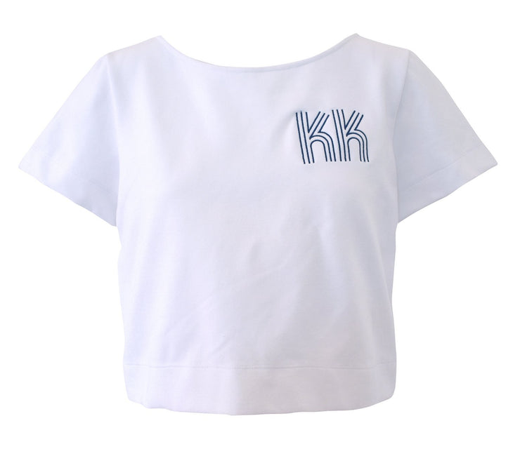 Clothing X-Small / White Ponte Short Sleeve Top