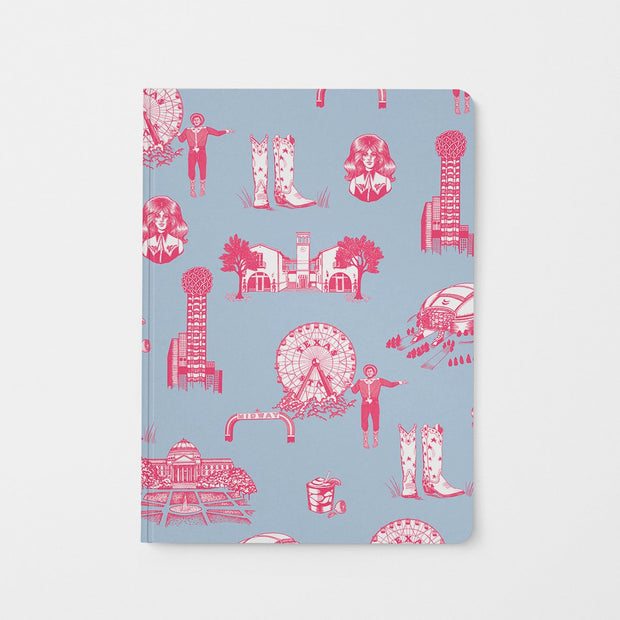Journal Blue Pink Dallas Toile Journal