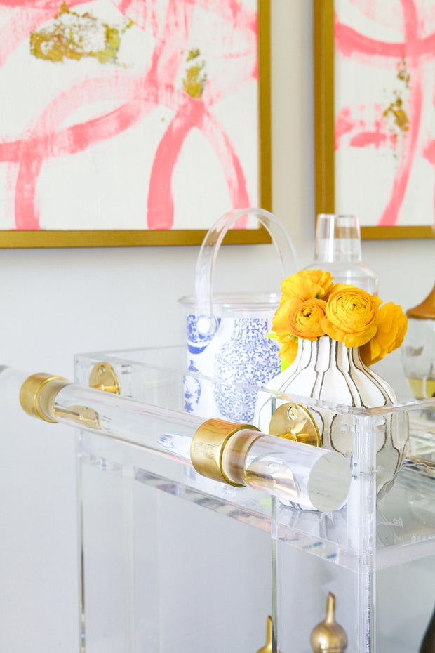 Entertaining & Bar Petite Lucite Bar Cart