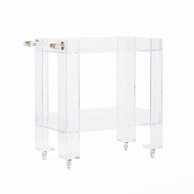 Entertaining & Bar Small Petite Lucite Bar Cart