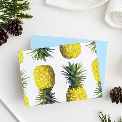 Folded Notecard Pineapples Folded Notecard