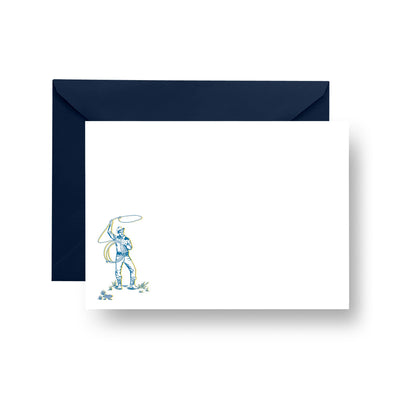 Flat Notecard Fort Worth Cowboy Flat Notecard Set