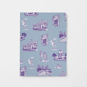 Journal Blue Purple Fort Worth Toile Journal