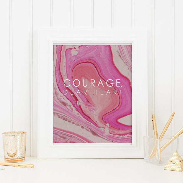 Gallery Prints 12X16 Courage,  Dear Heart