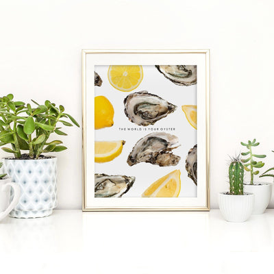 Gallery Prints 12x16 The World is Your Oyster Print
