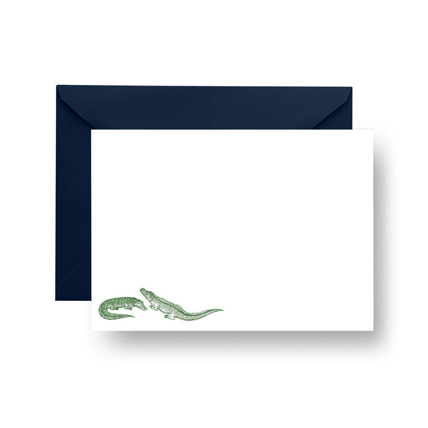 Flat Notecard Printed Notecard Gators Notecard Set