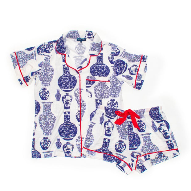 Leisure Ginger Jars Short Sleeve Pajama Set
