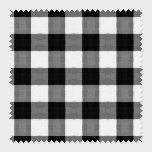 Fabric Cotton / Black Gingham Fabric