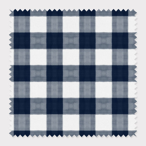 Fabric Cotton / Navy Gingham Fabric
