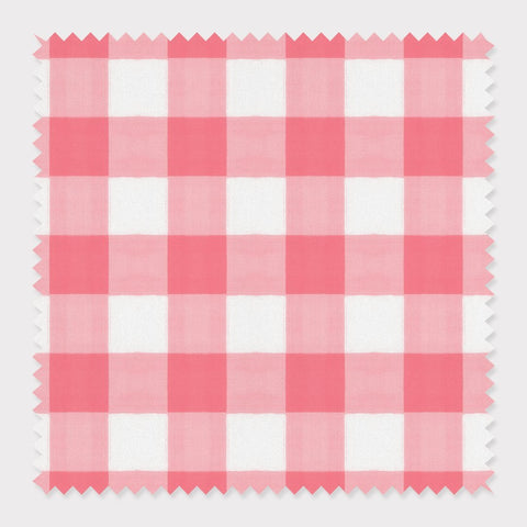 Fabric Cotton / Pink Gingham Fabric