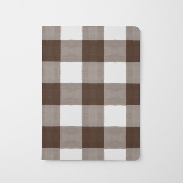 Journal Brown Gingham Journal