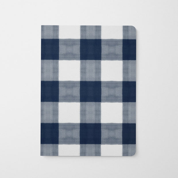 Journal Navy Gingham Journal