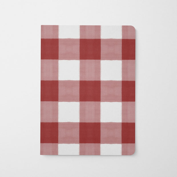 Journal Red Gingham Journal