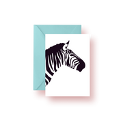 Greeting Card Black Zebra Greeting Card