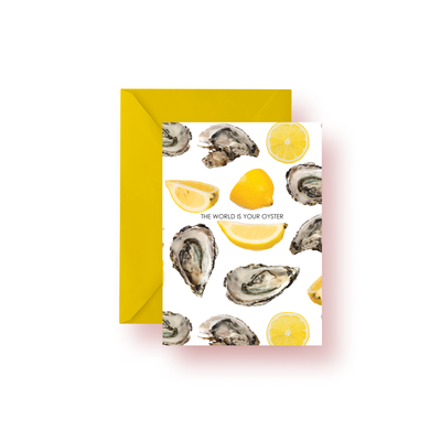Greeting Card Classic The World is Your Oyster Greeting Card