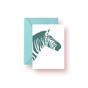 Greeting Card Green Zebra Greeting Card