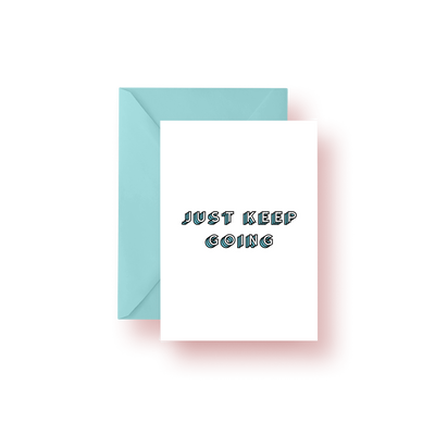 Greeting Card Just Keep Going Colorblock Greeting Card