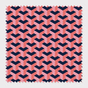 Fabric Cotton / Navy Greta Fabric