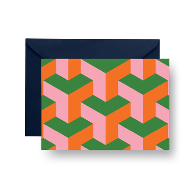 Folded Notecard Green Greta Folded Notecard Set