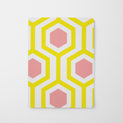 Journal - No Monogram Yellow Honeycomb Journal