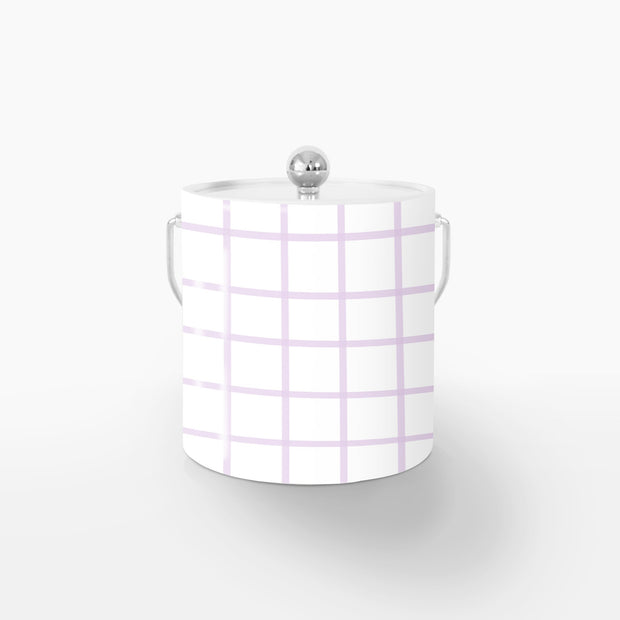 Ice Bucket Silver / Lilac In Check 3QT Ice Bucket