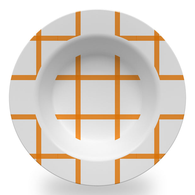 Melamine Orange / Bowl In Check Dinnerware