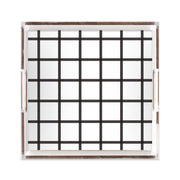 Lucite Trays Black / 12x12 In Check Lucite Tray