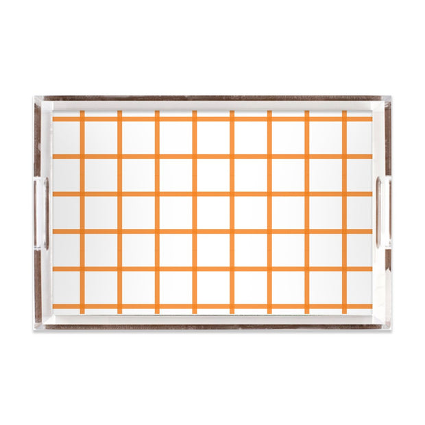 Lucite Trays Coral / 11x17 In Check Lucite Tray