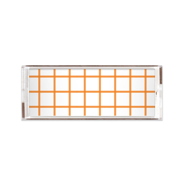 Lucite Trays Coral / 11x4 In Check Lucite Tray