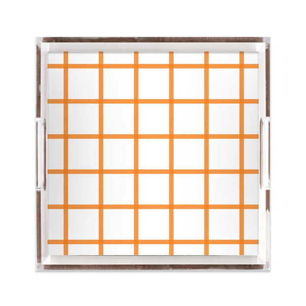 Lucite Trays Coral / 12x12 In Check Lucite Tray