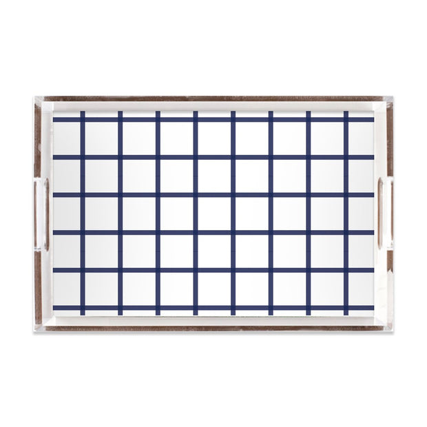 Lucite Trays Navy / 11x17 In Check Lucite Tray