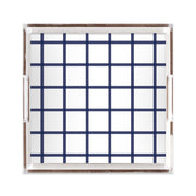 Lucite Trays Navy / 12x12 In Check Lucite Tray