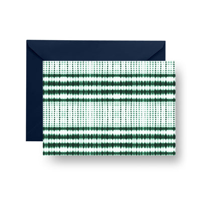 Folded Notecard Green Interstellar Folded Notecard Set