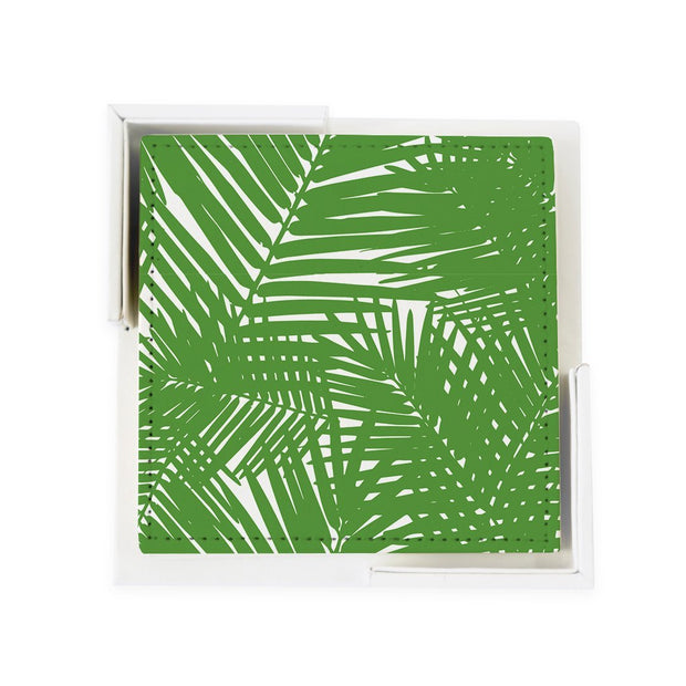 Coaster Set Green Jungle Leaves Coaster Set
