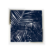 Coaster Set Navy Jungle Leaves Coaster Set